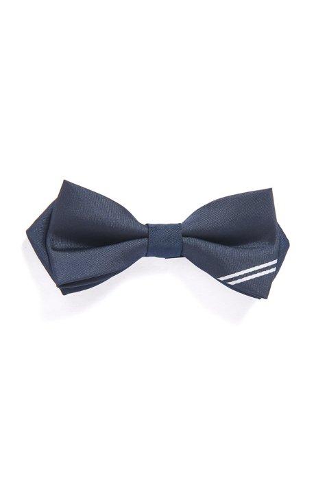 Vlinderdas voor kinderen met jacquardgeweven logo, Donkerblauw