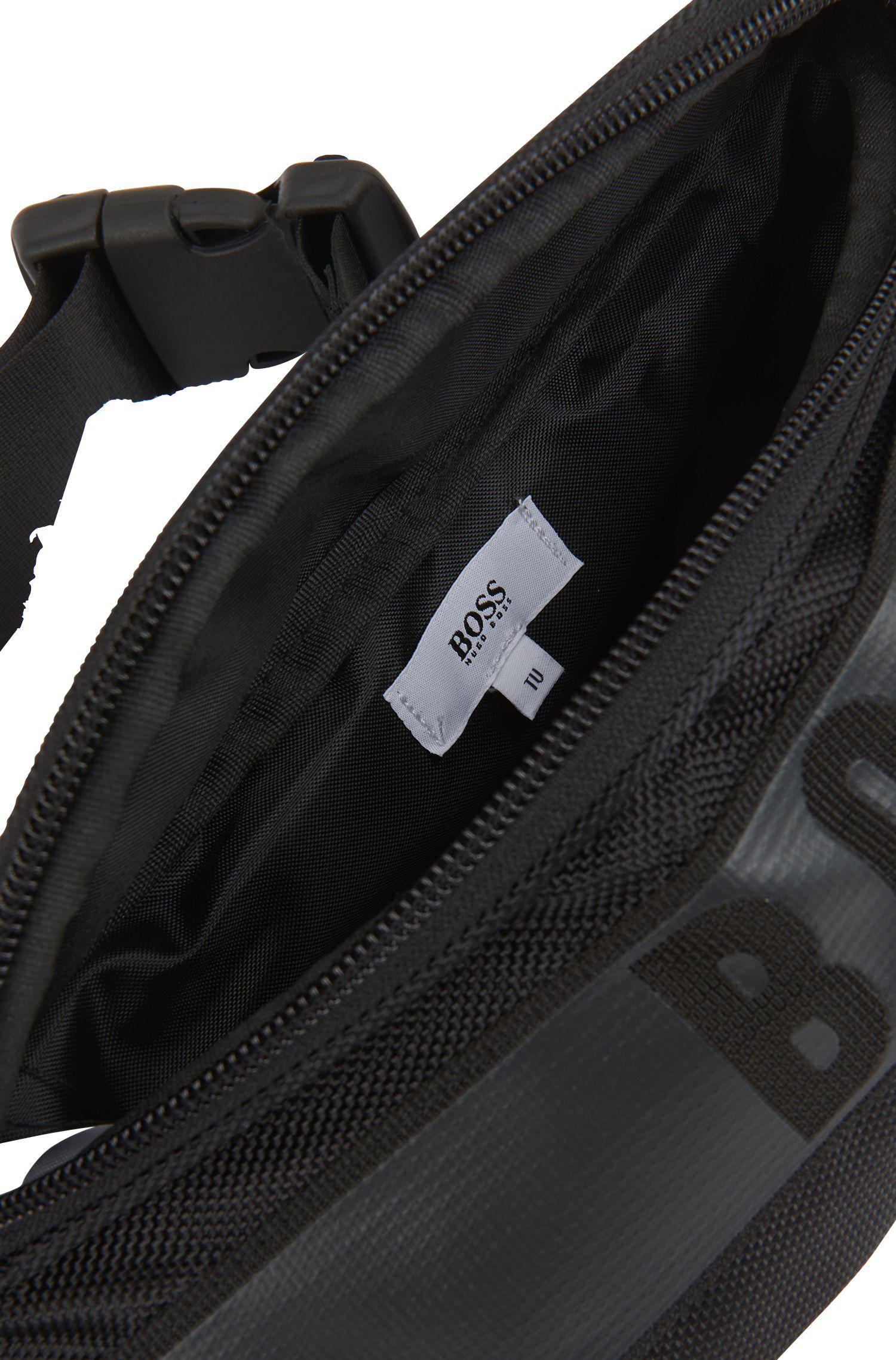 Sac ceinture pour enfant avec logo en gomme, Noir