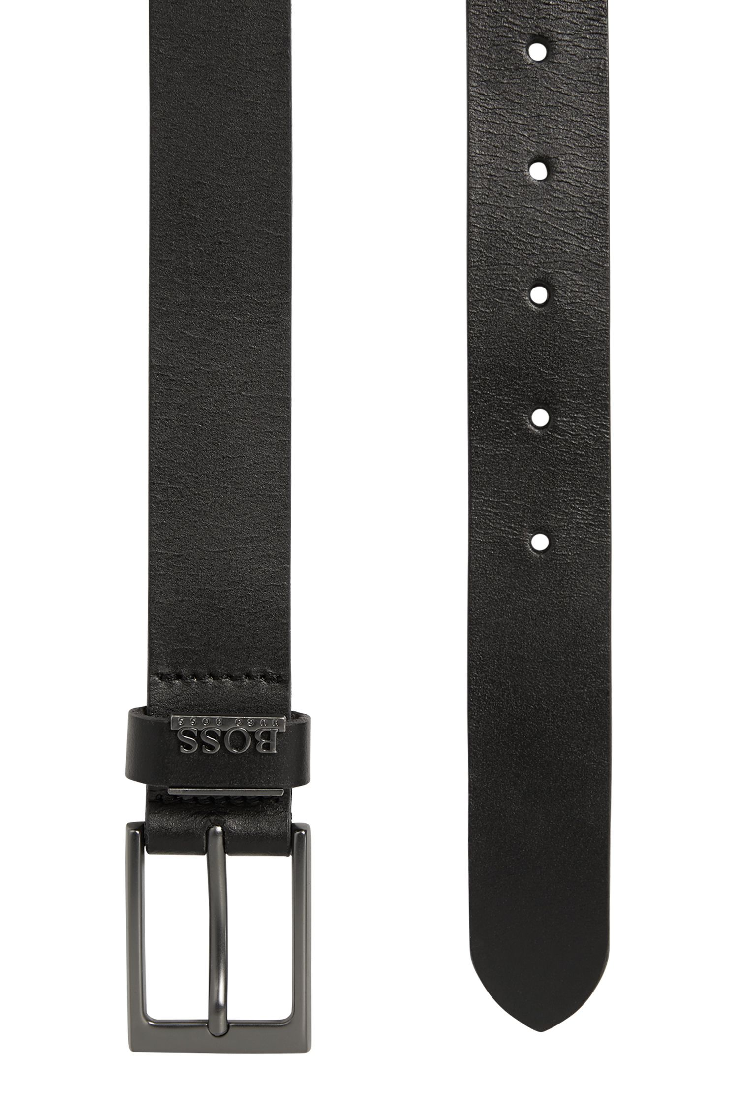 Kids' leather belt with a pin buckle: 'J20V74'
