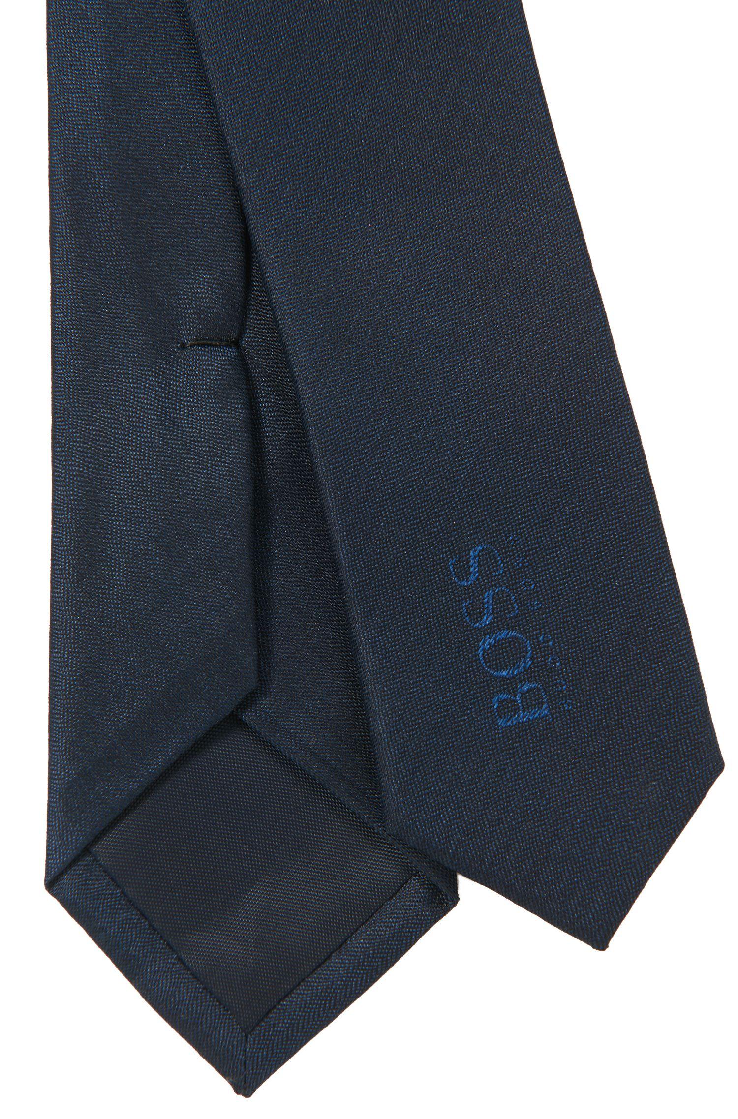 Cravate habillée pour enfant en belle soie, Bleu foncé