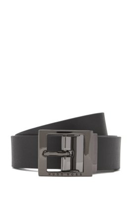 Kids' reversible belt in leather, Patterned