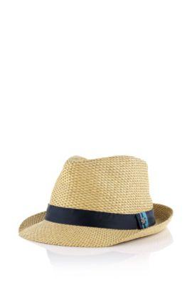 Chapeau en paille pour enfant «J21135» en fibre de papier, Beige