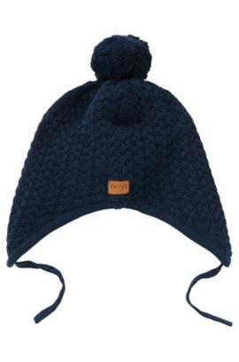 Ohrenmütze aus Baumwolle: 'J21147', Dunkelblau