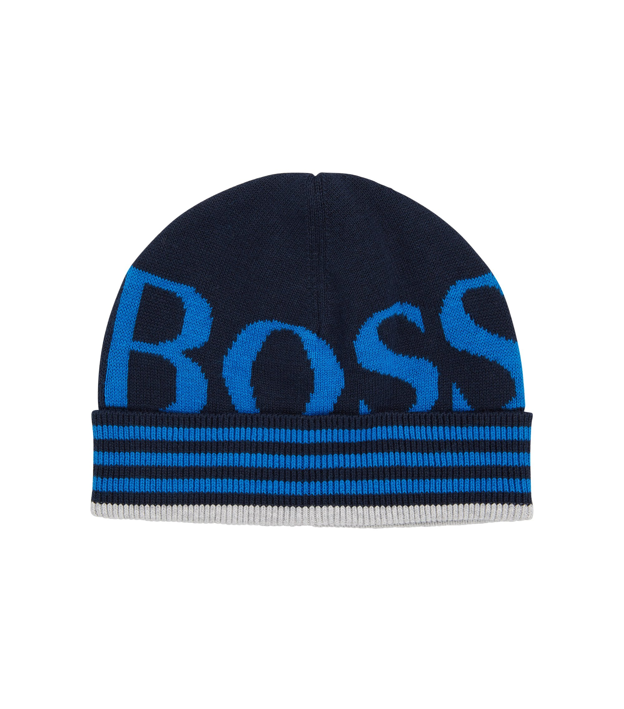 Kids' beanie in cotton blend with wool: 'J21169', Patterned