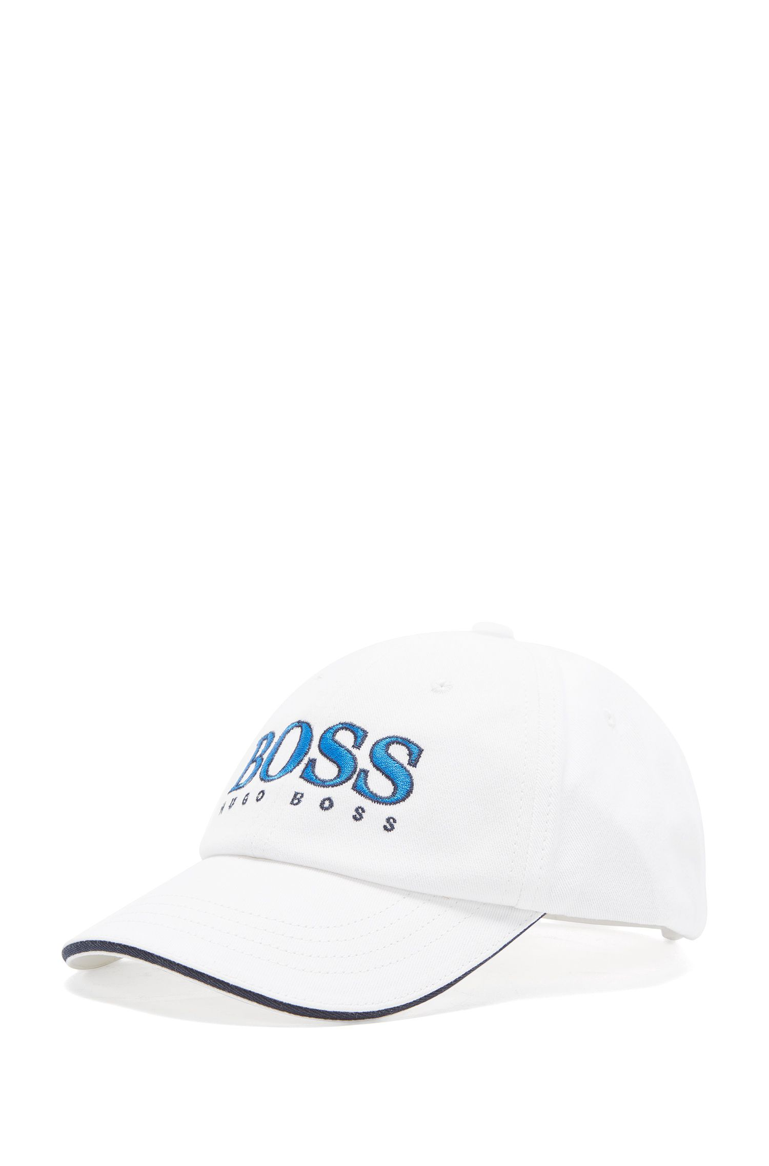 Kids' cap in cotton with embroidered logo: 'J21177/82252'