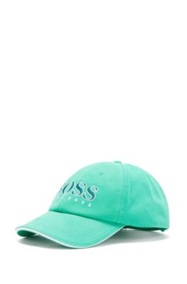 Kids' cap in cotton with embroidered logo: 'J21177/82252', Green