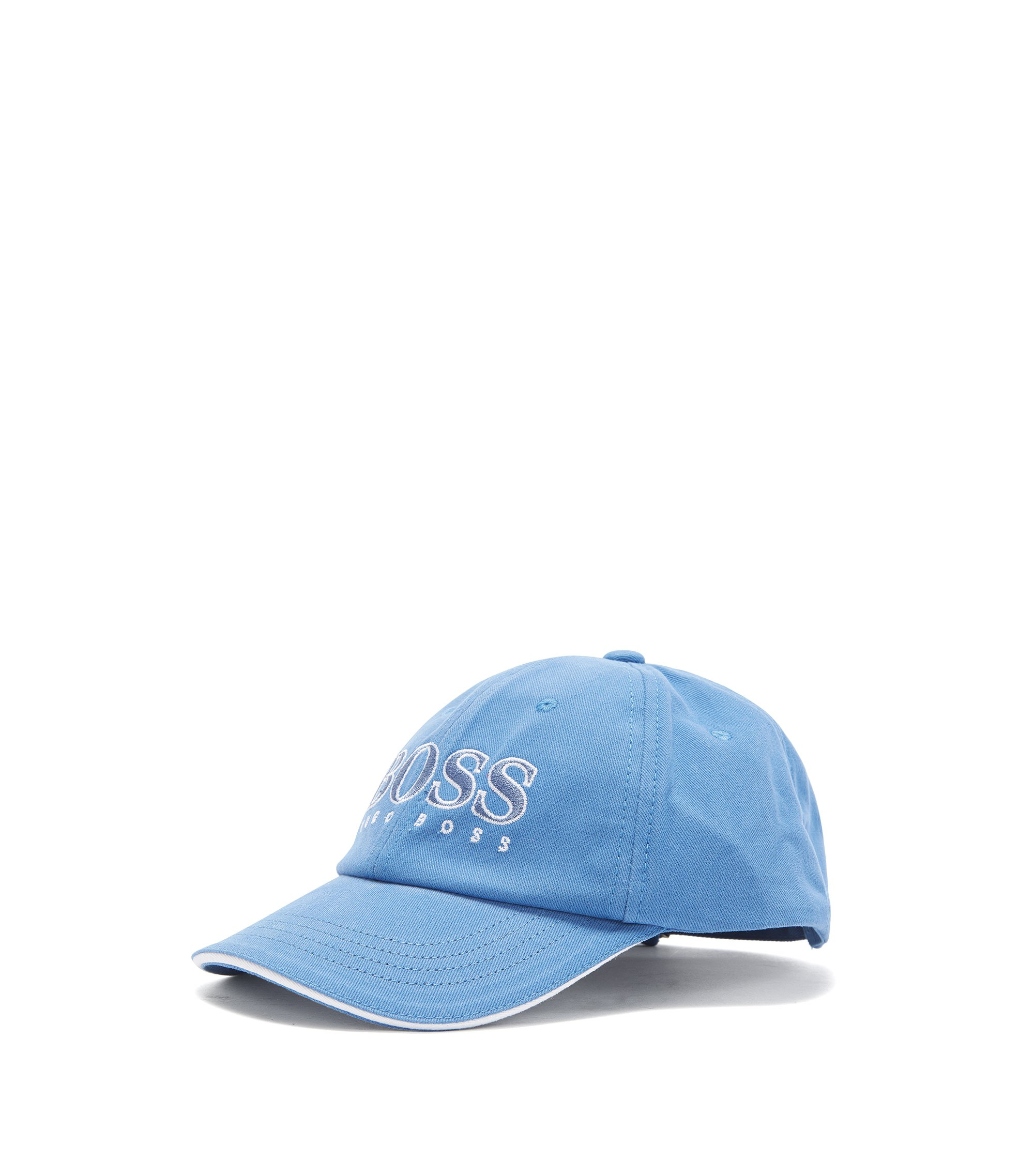 Kids' cap in cotton with embroidered logo: 'J21177/82252', Blue