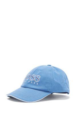 Kids-Cap aus Baumwolle mit Logo-Stickerei vorne: 'J21177/82252', Blau