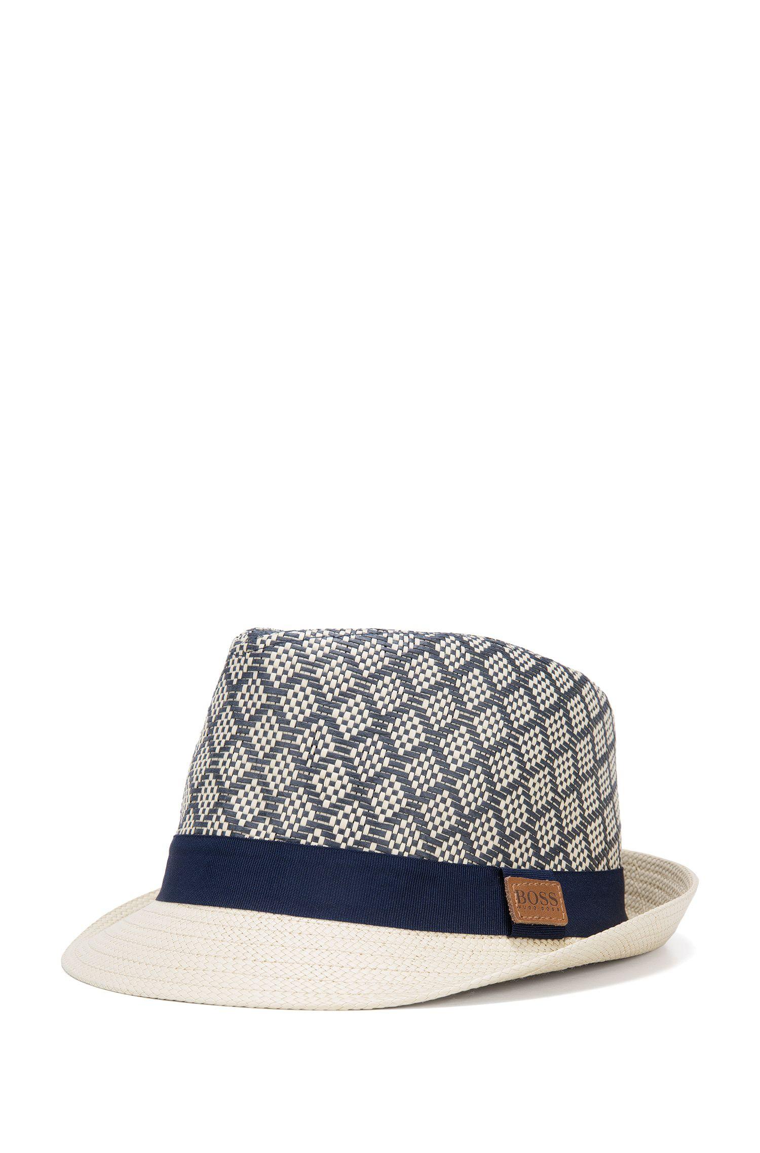 Kids-Hut aus Papierstroh mit Kontrast-Hutband: 'J21178'