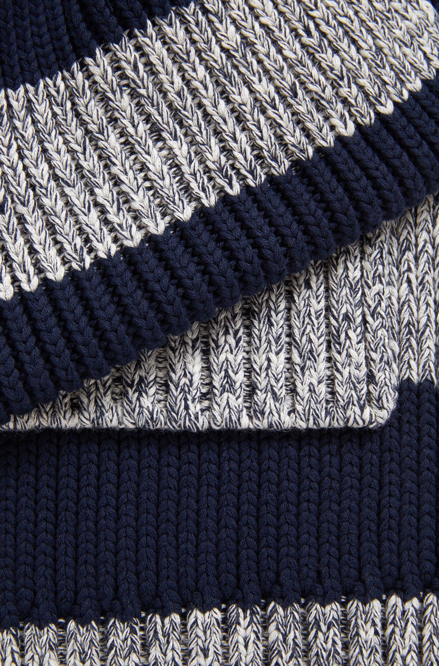 Sciarpa a righe da bambino in cotone lavorato a maglia