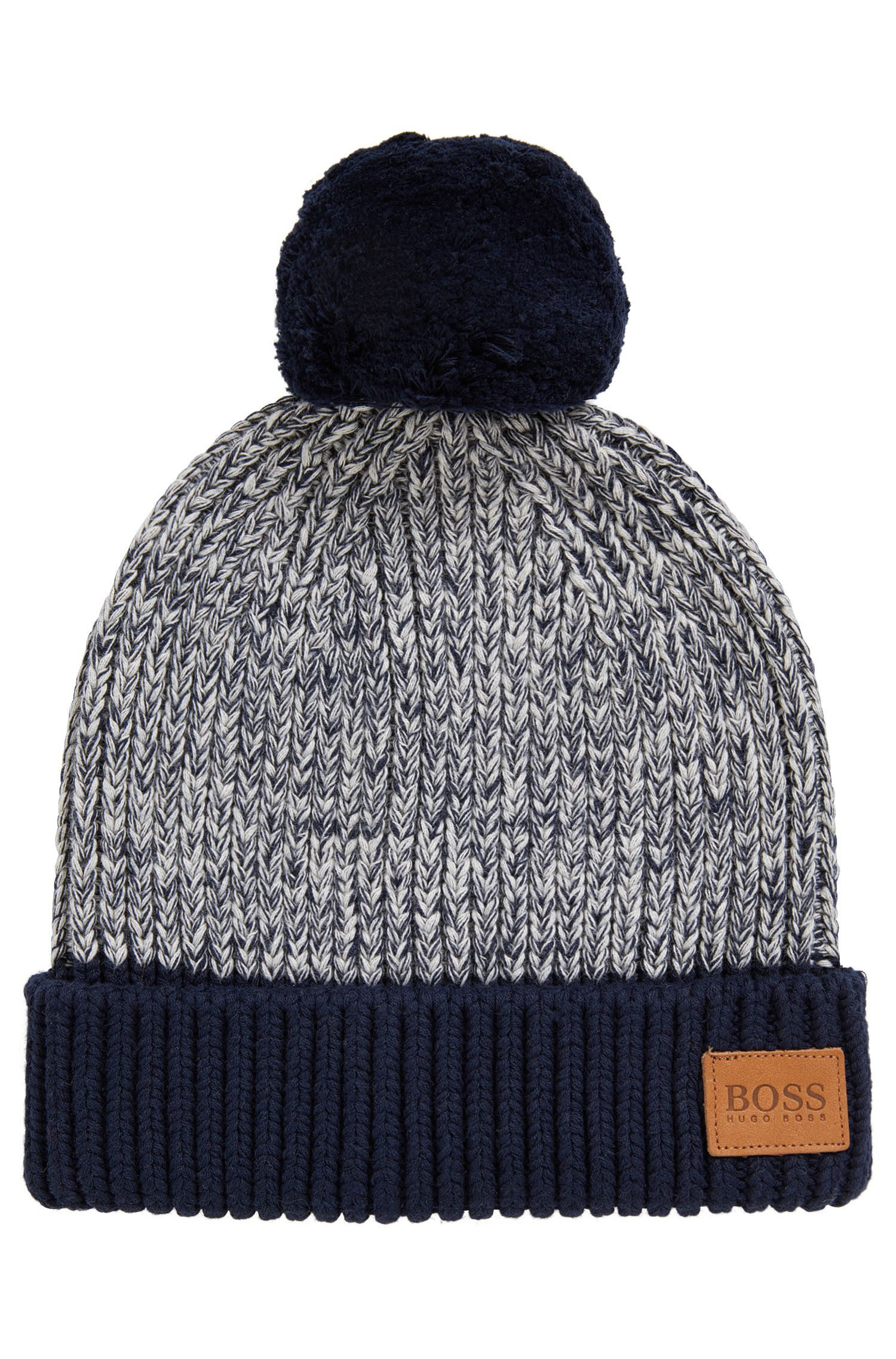 Kids' beanie hat in knitted cotton