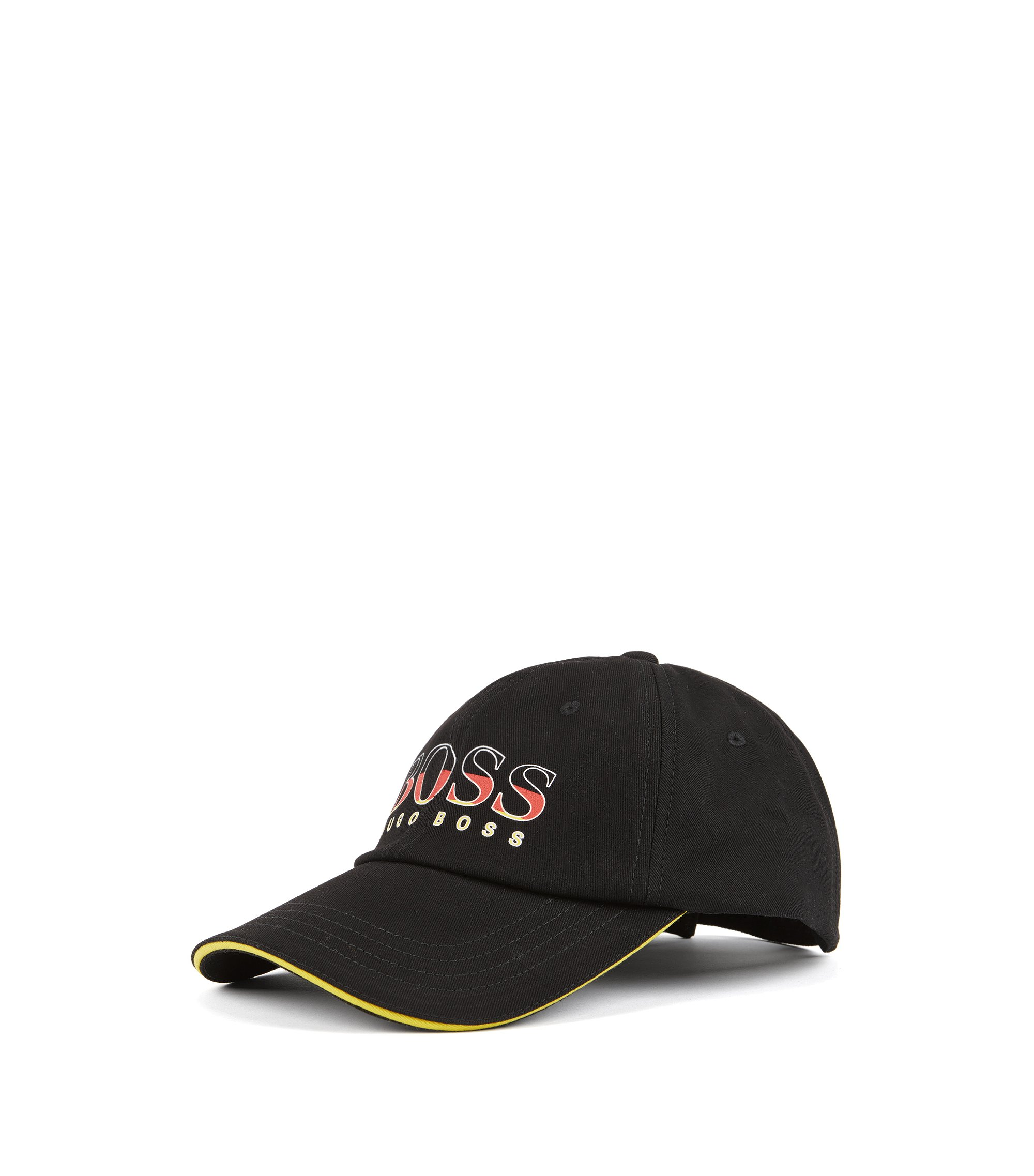 Kids' cap in cotton twill with Germany's team colours, Patterned