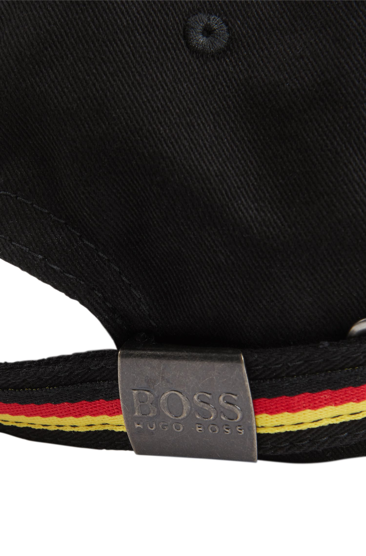 Kids' cap in cotton twill with Germany's team colours