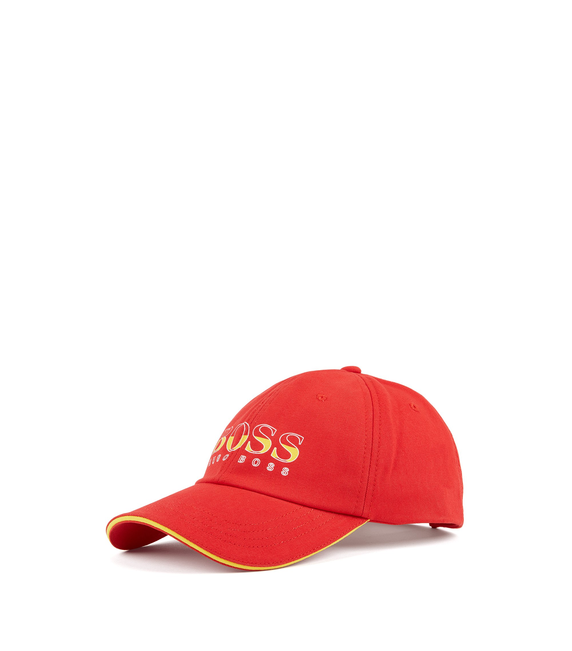 Kids' cap in cotton twill with Spain's team colours, Red