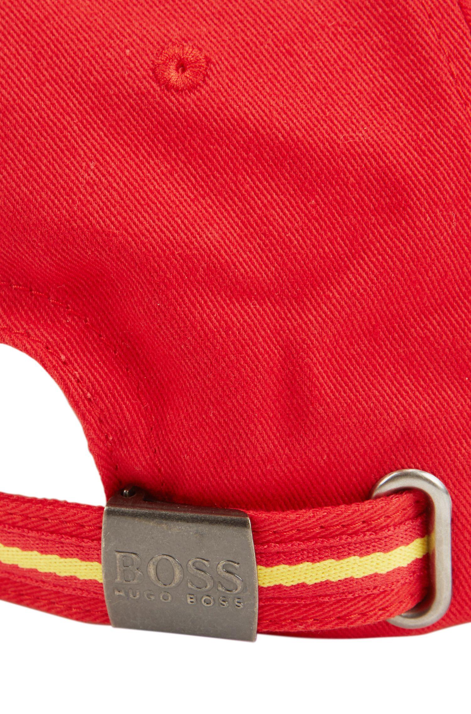 Gorra para niños en sarga de algodón con los colores del equipo español