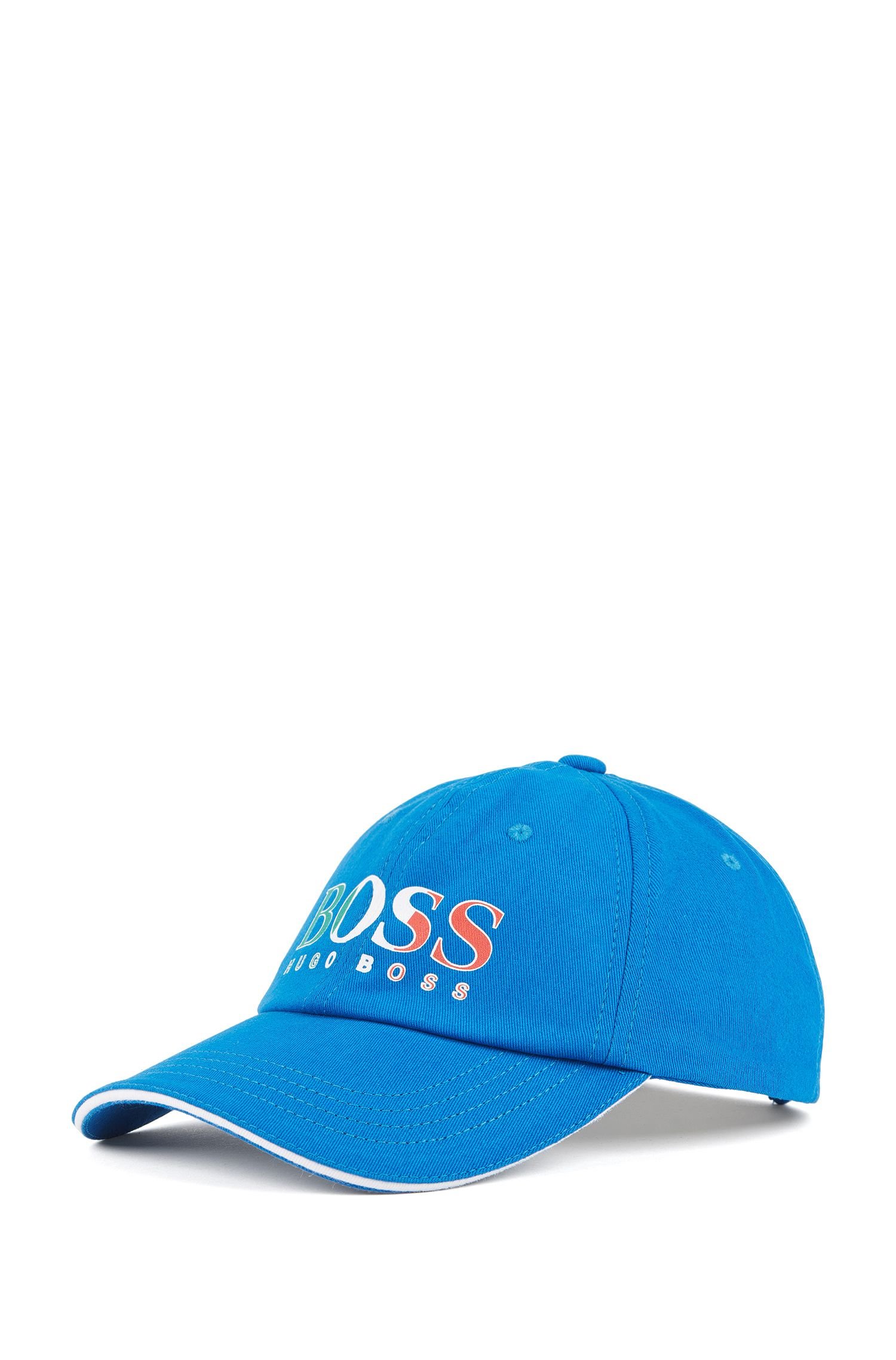 Kids' cap in cotton twill with Italy's team colours
