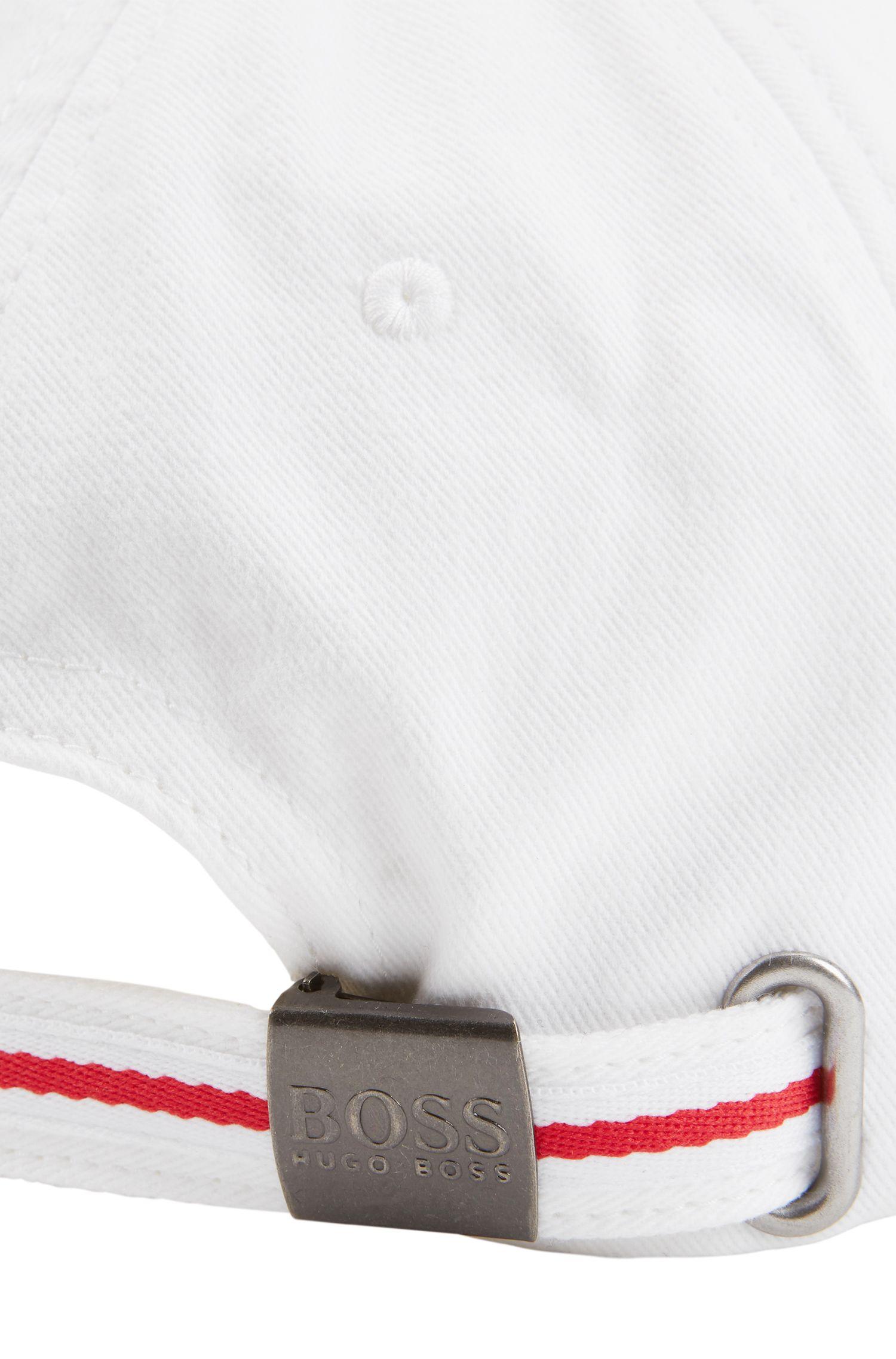 Kinder-Cap aus Baumwoll-Twill in den englischen Teamfarben