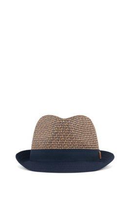 Sombrero de paja para niños con etiqueta de piel y logo, Fantasía