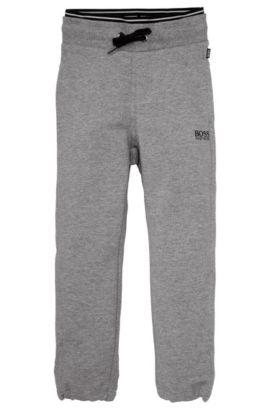 Pantalon de jogging pour enfants «J24300» en coton mélangé, Gris sombre