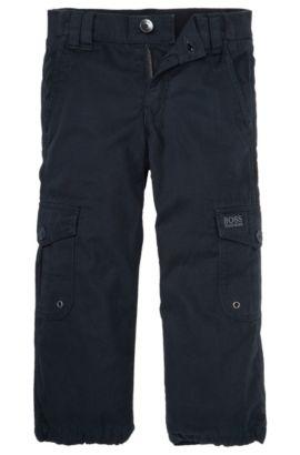 Pantalon pour enfants «J24313» en coton, Bleu foncé