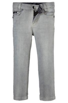 Jeans pour enfant «J24323» en coton mélangé, Gris