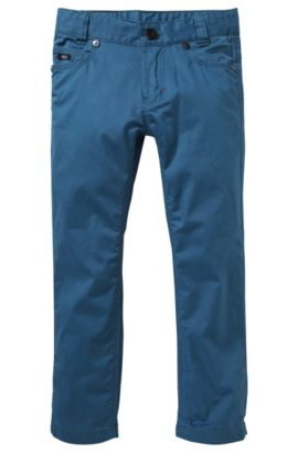 Jeans pour enfant «J24326» avec bande en élastomère ajustable, Bleu foncé
