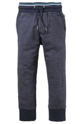 Pantalon de jogging pour enfant «J24338» en coton, Bleu foncé