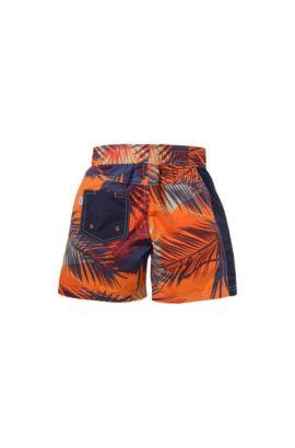 Kids-Badeshorts ´J24344` mit buntem Allover-Print, Orange