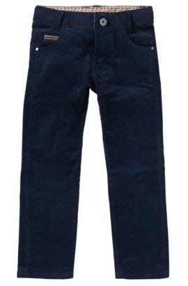 Pantalon en coton mélangé: «J24361», Bleu foncé