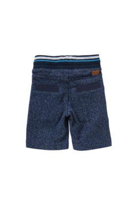 Pantalón de chándal para niño en algodón y cintura con cordón: 'J24385', Azul oscuro