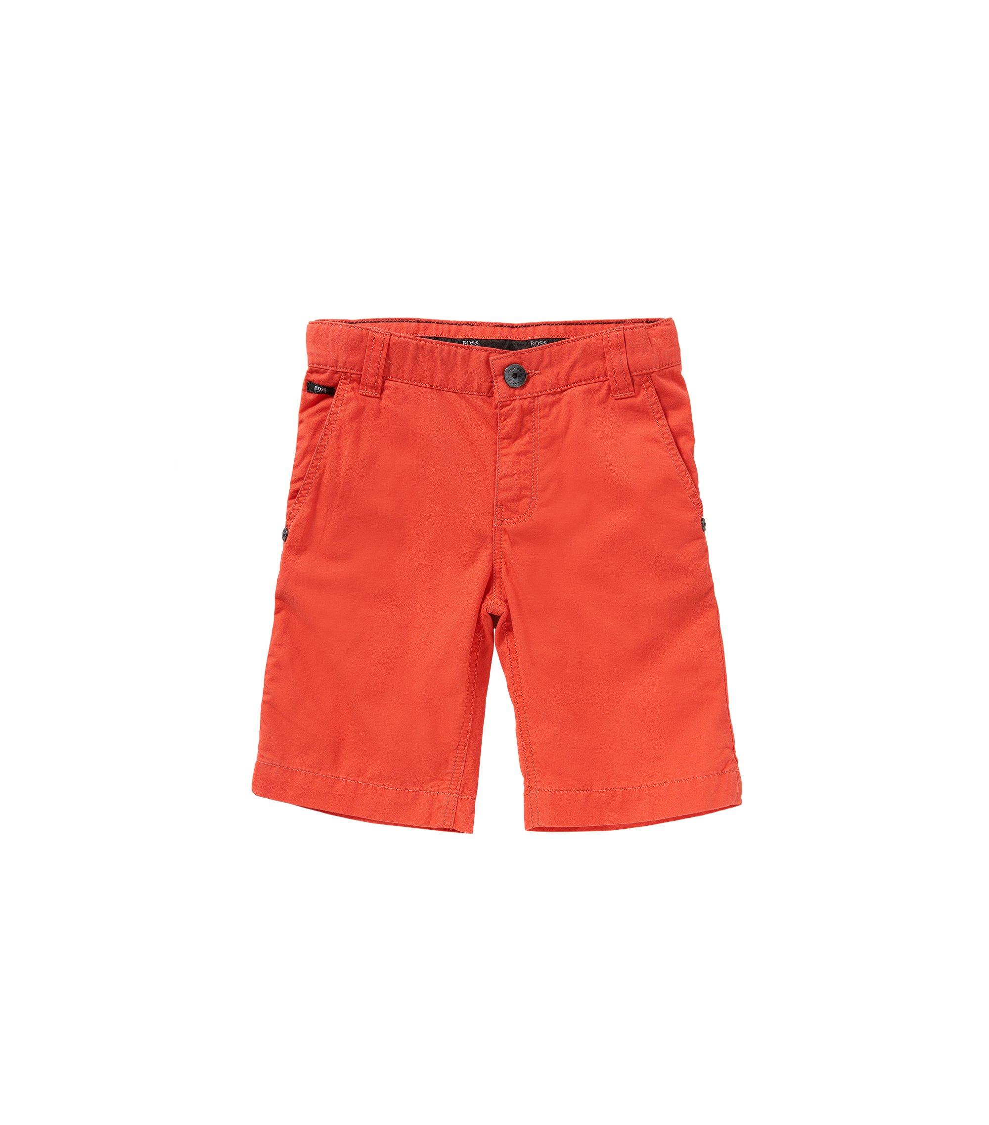Regular-Fit Kids-Shorts aus reiner Baumwolle: 'J24386', Rot