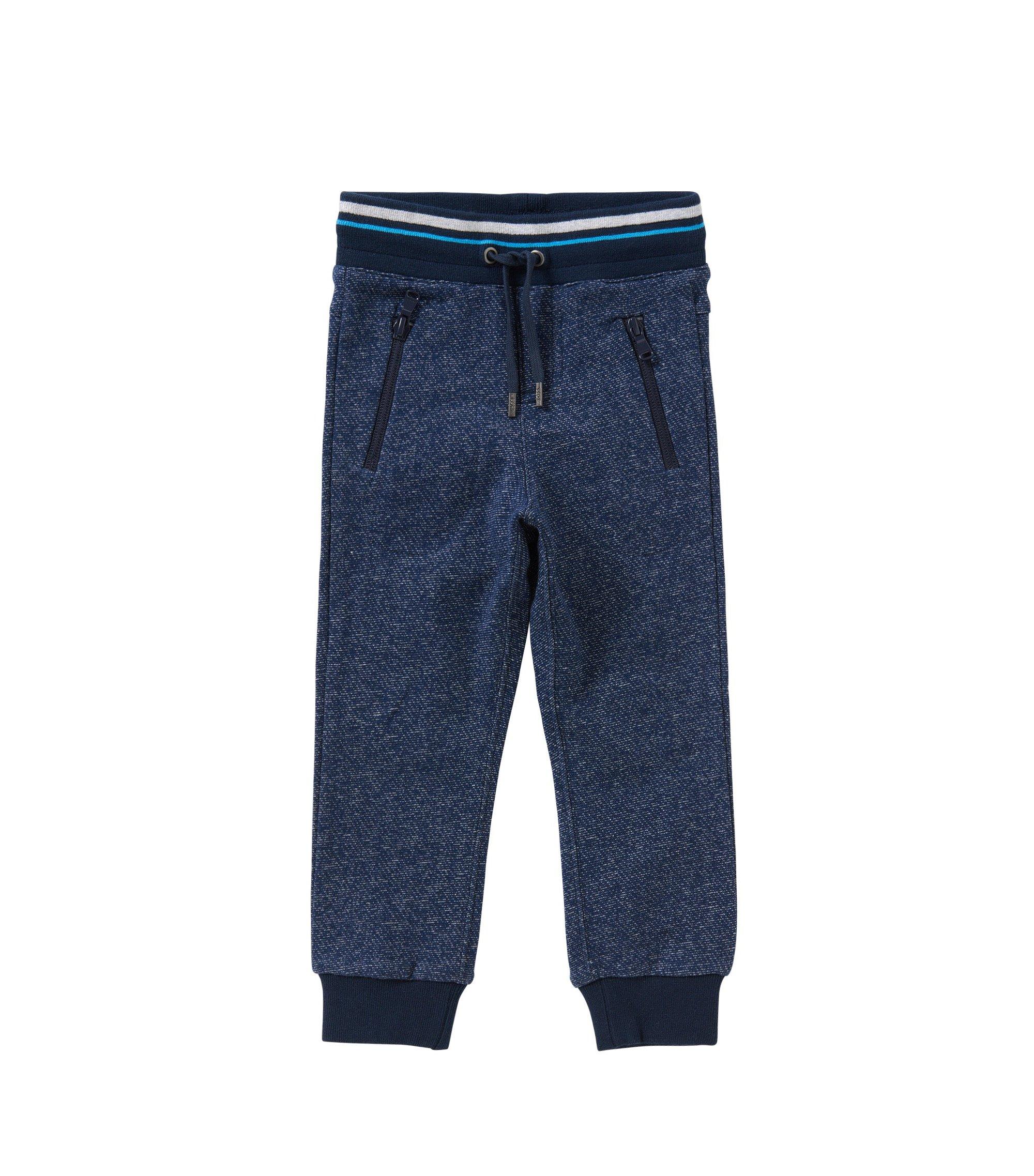 Kids-Sweathose aus Baumwolle mit Tunnelzugbund: 'J24392', Dunkelblau