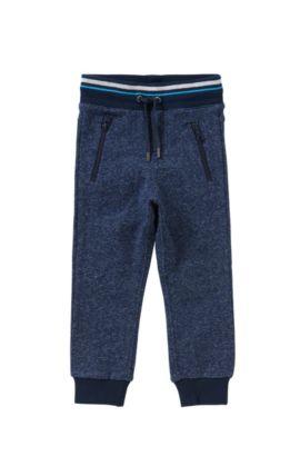 Pantalon sweat pour enfant en coton avec cordon de serrage: «J24392», Bleu foncé