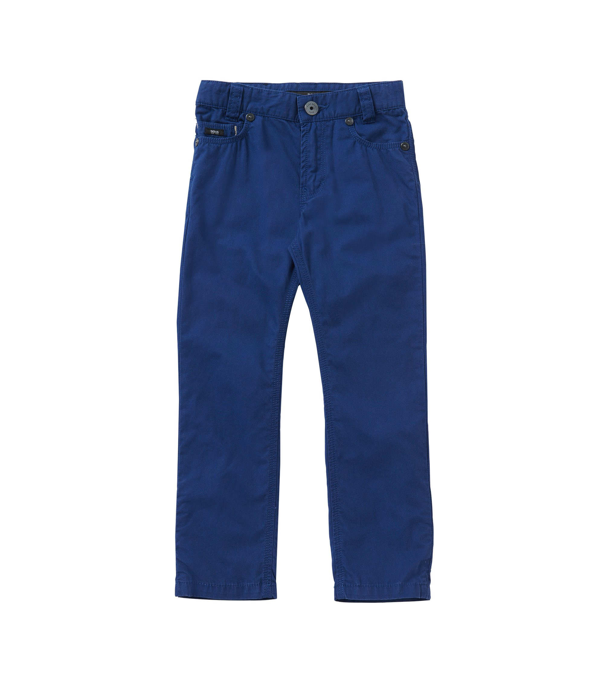 Unifarbene Slim-Fit Kids-Hose aus Baumwolle: 'J24393', Dunkelblau