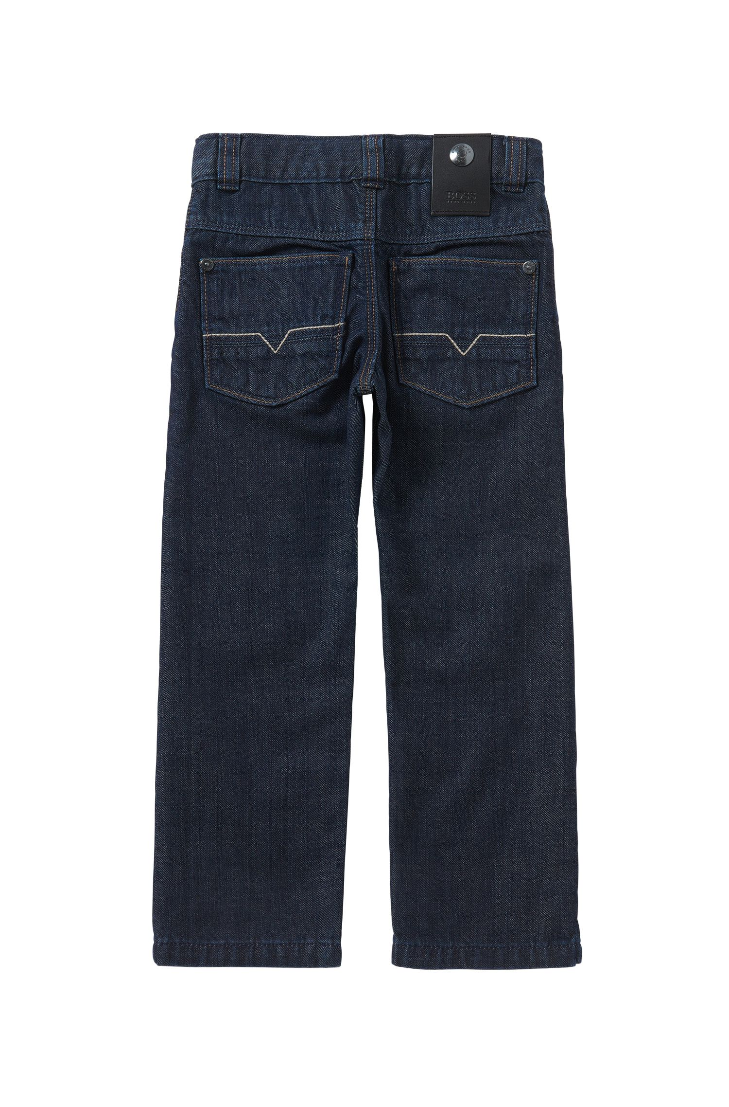 Regular-fit kids' jeans in pure cotton: 'Alabama'