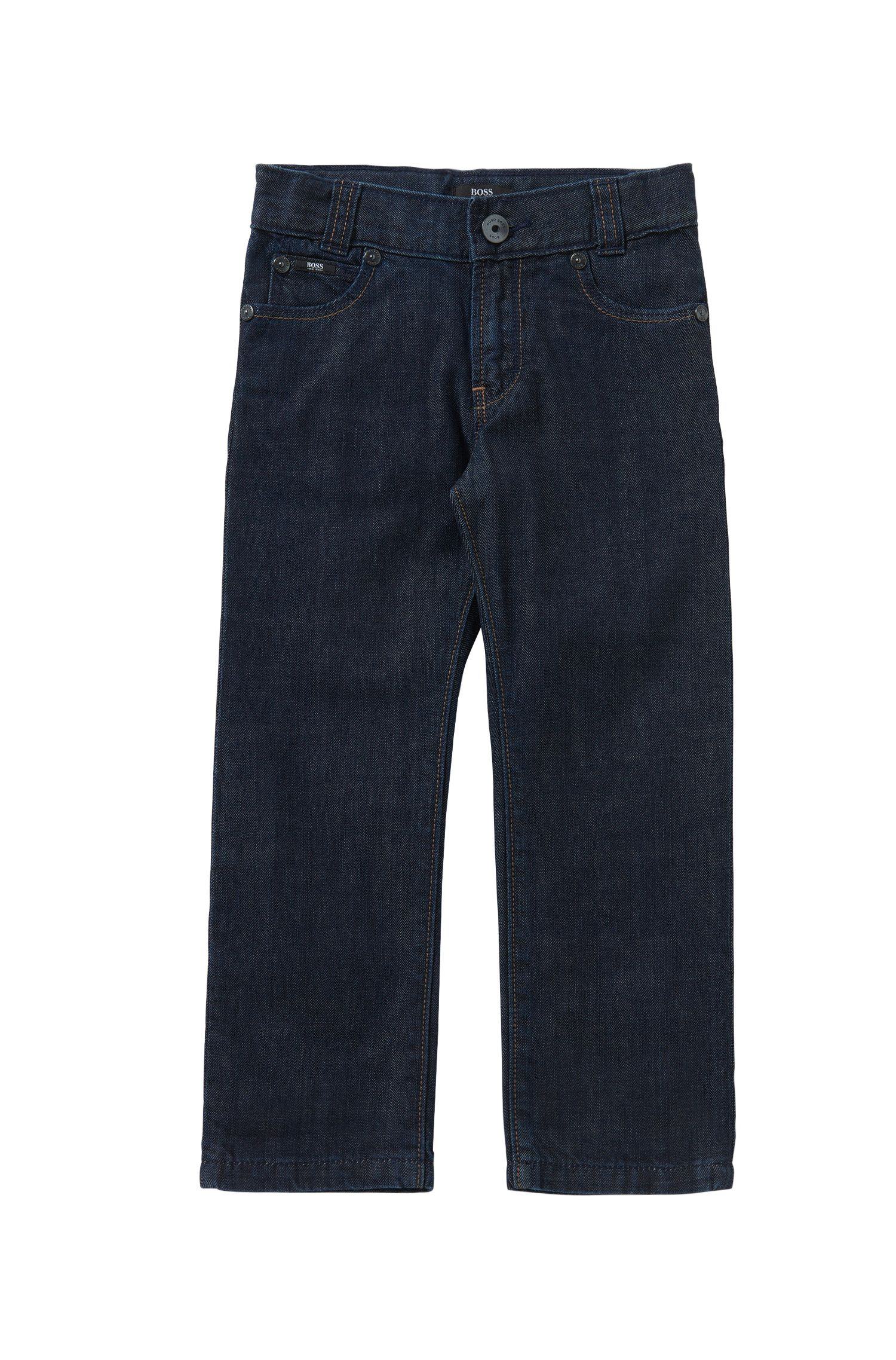 Jeans regular fit da bambino in puro cotone: 'Alabama'