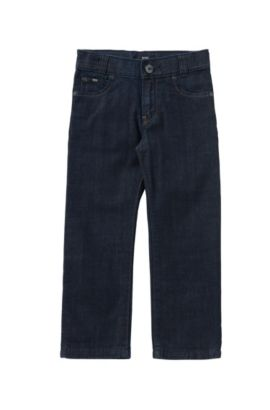 Regular-fit kids' jeans in pure cotton: 'Alabama', Patterned