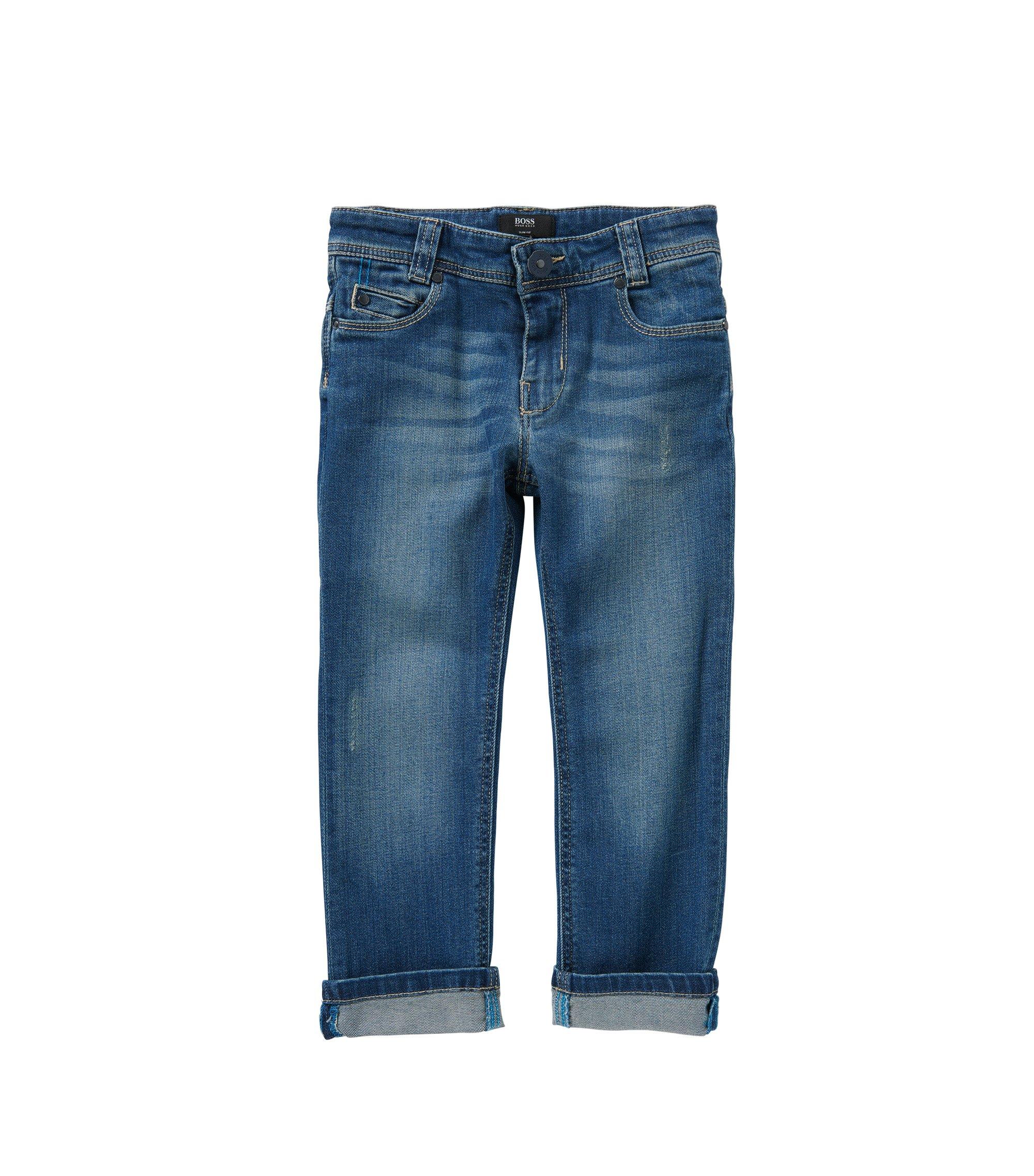 Slim-Fit Kids-Jeans aus Stretch-Baumwolle: 'Montana', Blau