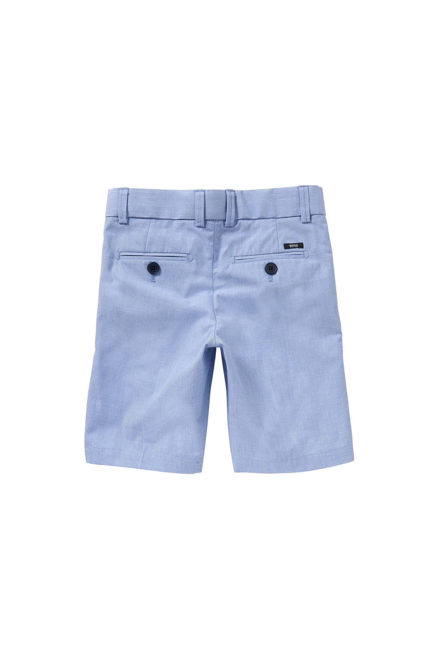 Short pour enfant en coton orné d'un détail à rayures: «J24411»