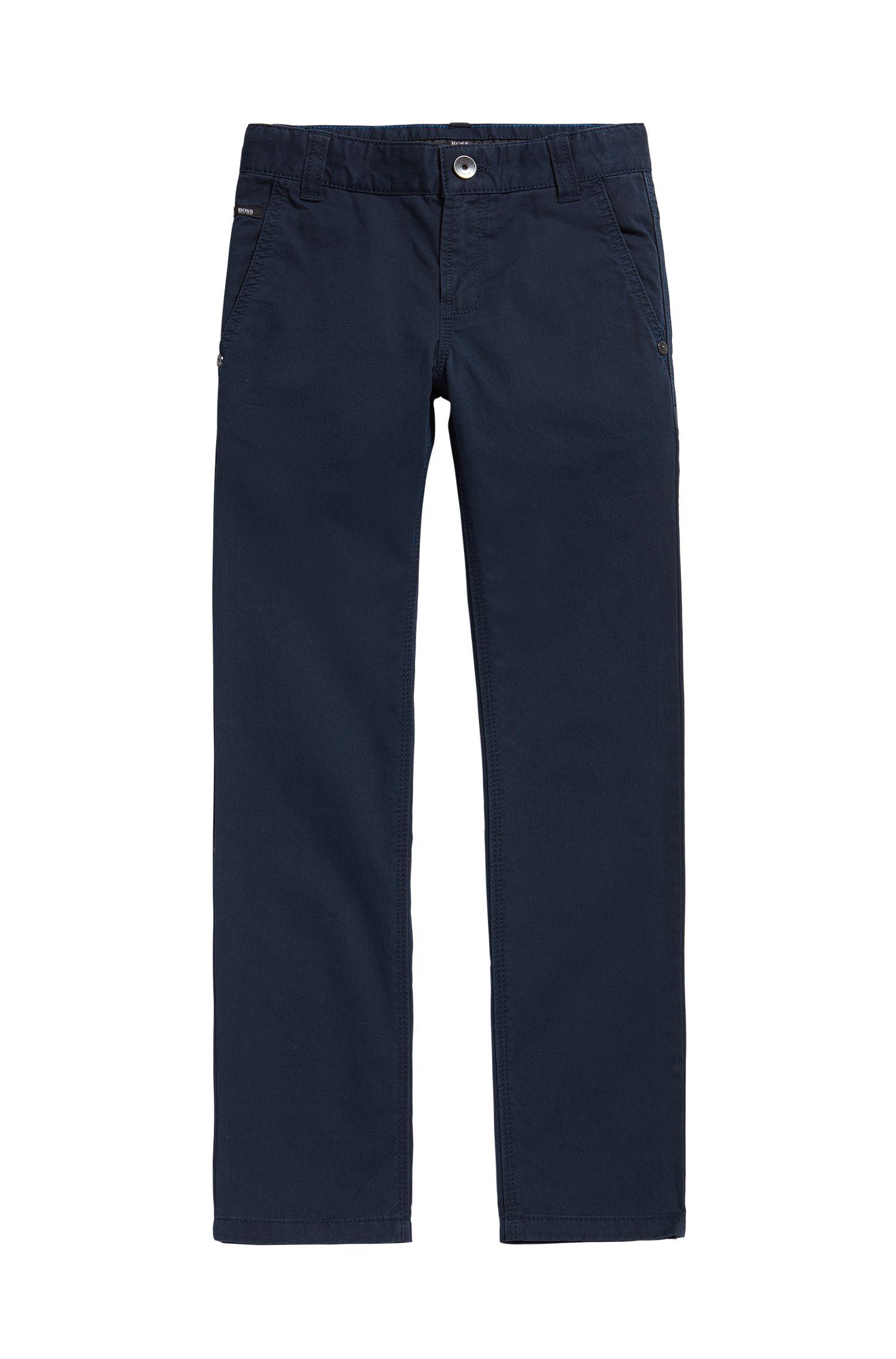 Kids' cotton trousers in a plain design: 'J24418'