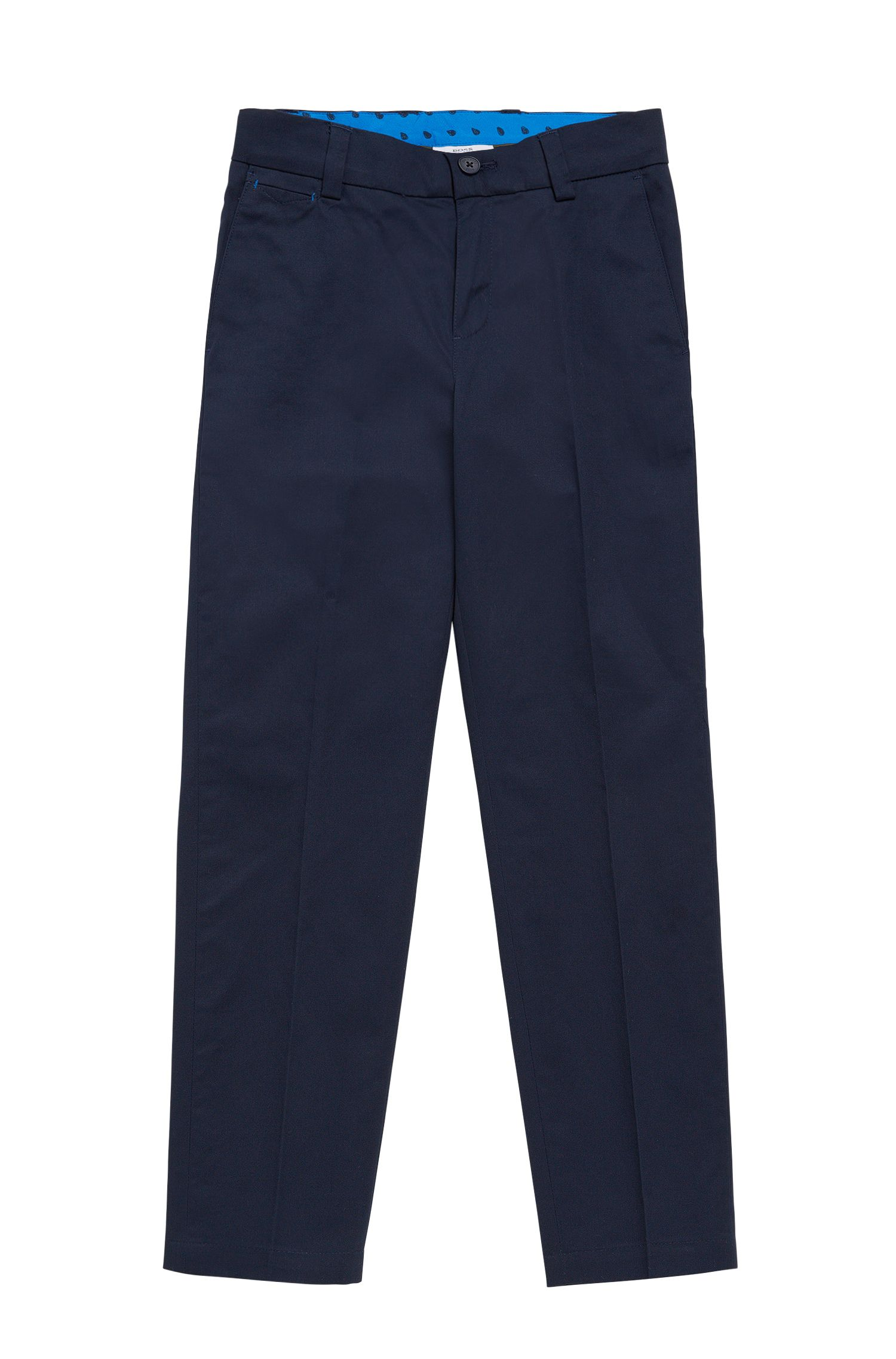 Kids' chinos in cotton with pressed creases: 'J24423'