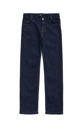 Kids-Jeans aus elastischem Baumwoll-Mix mit Kontrastnähten: 'J24425', Gemustert