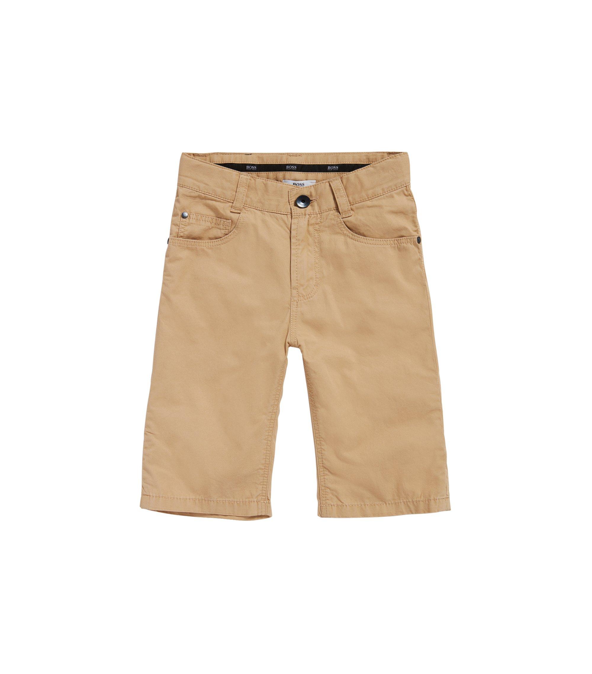 Shorts para niño en algodón con estilo de cinco bolsillos: 'J24433', Beige