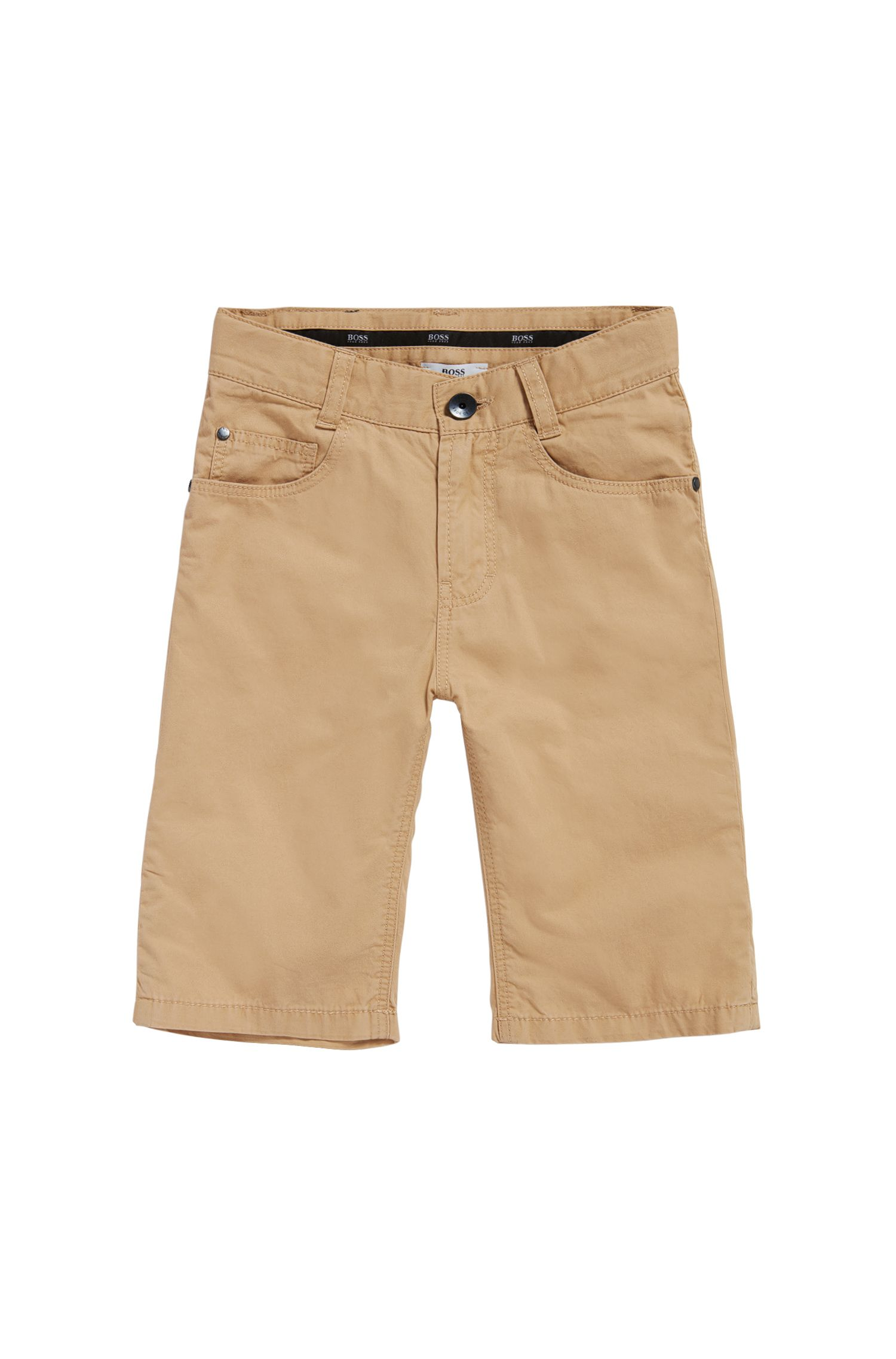 Pantaloncini corti da bambino in cotone in stile cinque tasche: 'J24433'