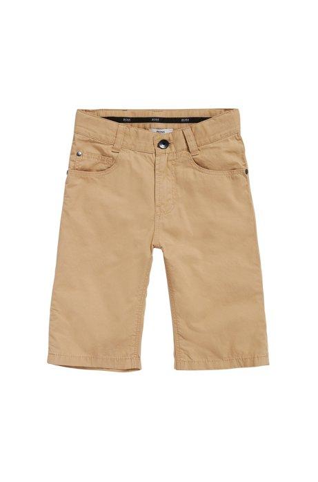 Short pour enfant en coton au style 5poches: «J24433», Beige