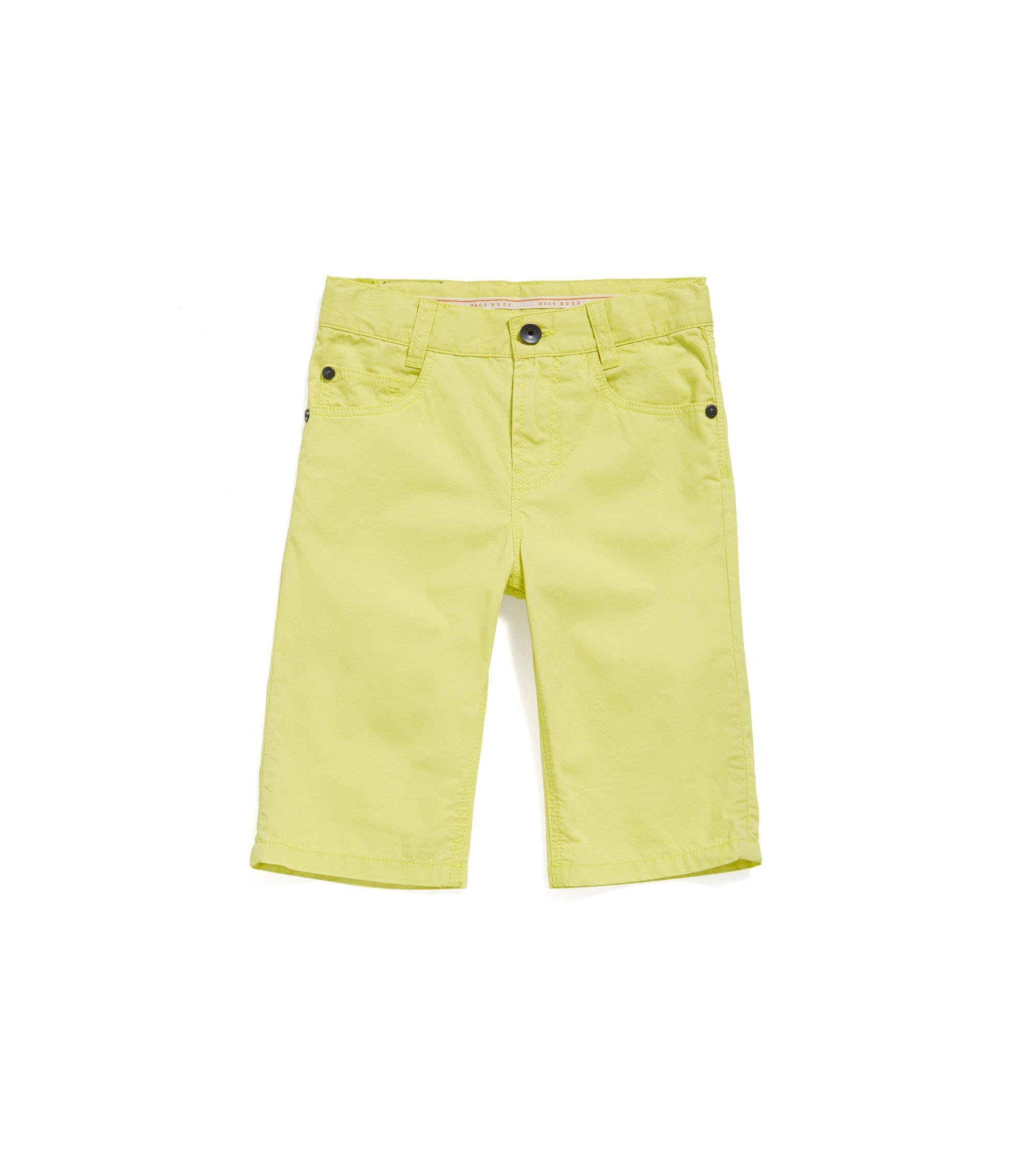 Short pour enfant en coton au style 5poches: «J24433», Jaune clair