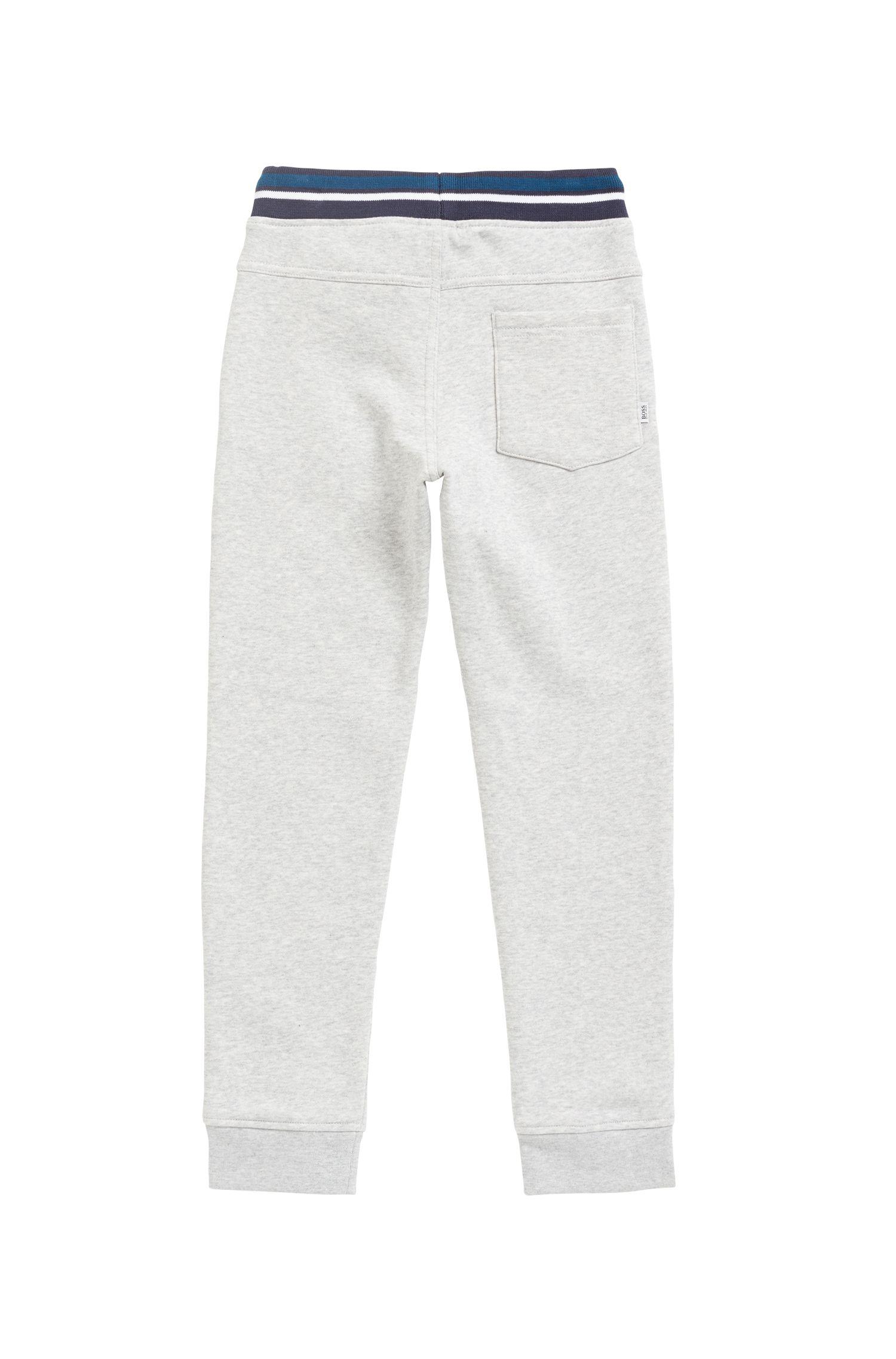 Pantalones para niños loungewear en forro de mezcla de algodón, Gris claro