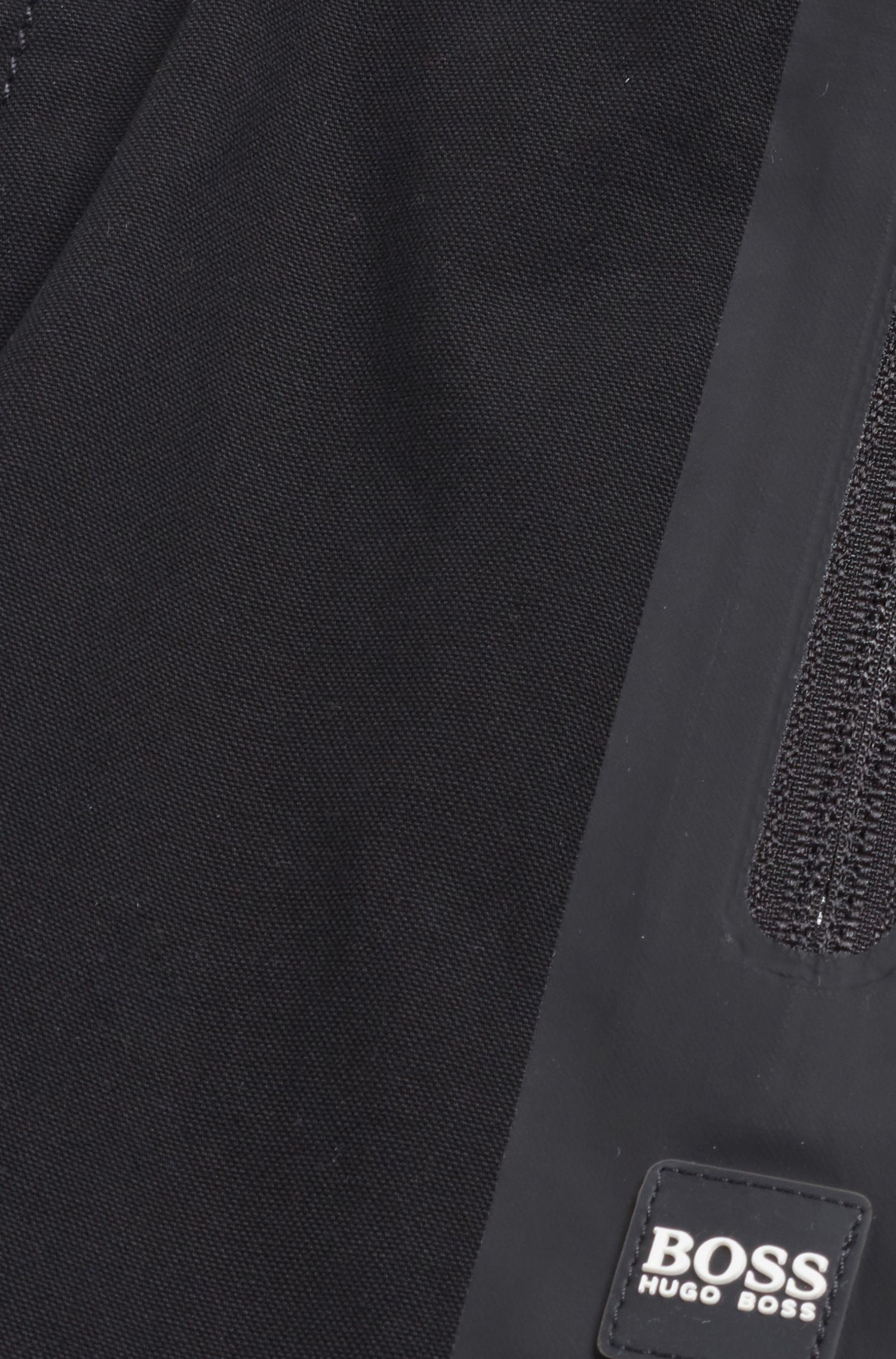 Pantalon Slim Fit pour enfant, en toile de pur coton, Noir