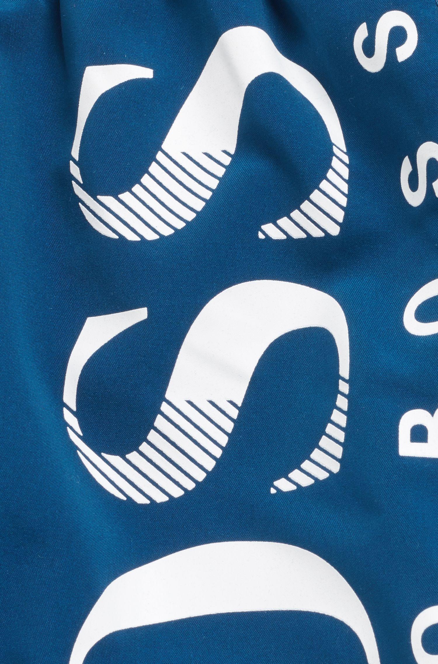 Short de bain à séchage rapide pour enfant à logo imprimé, Bleu