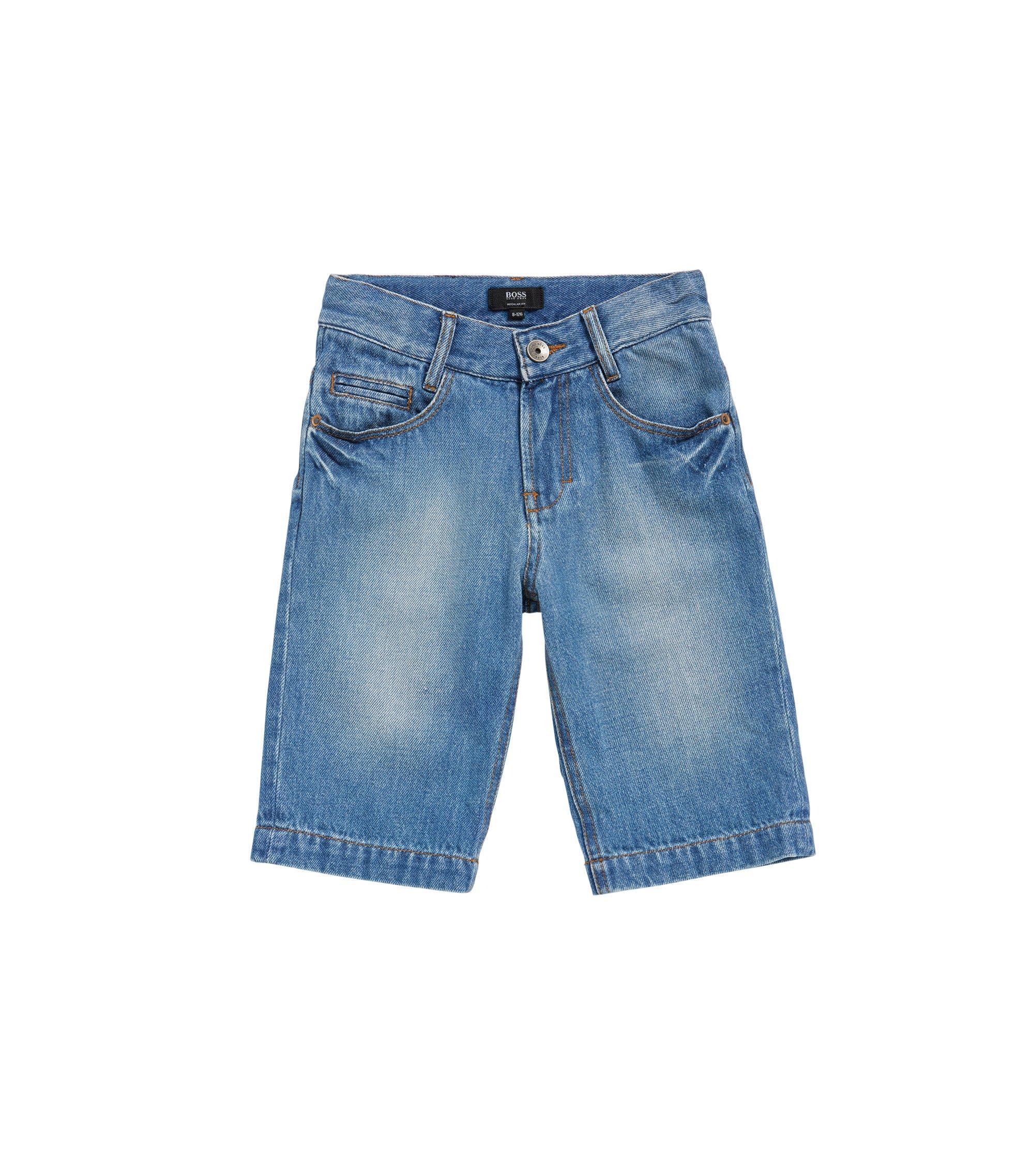 Pantaloncini corti di jeans da bambino in cotone: 'J24490', A disegni